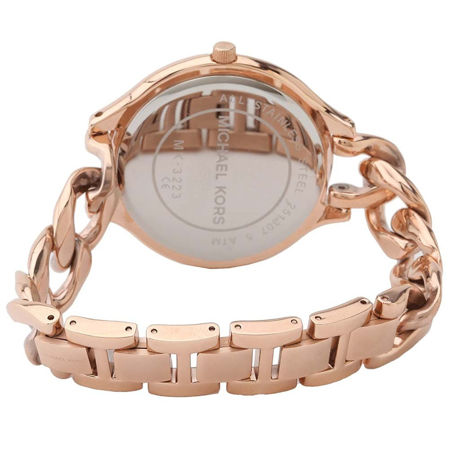 cad4d4adf Michael Kors Women's Slim Runway Rose Dial Twist Watch MK3223