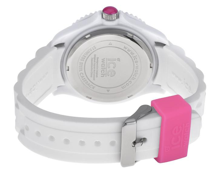 White Pink b Silicone Unisex Dial Watch s Si wp Ice 10 PkOX8nw0