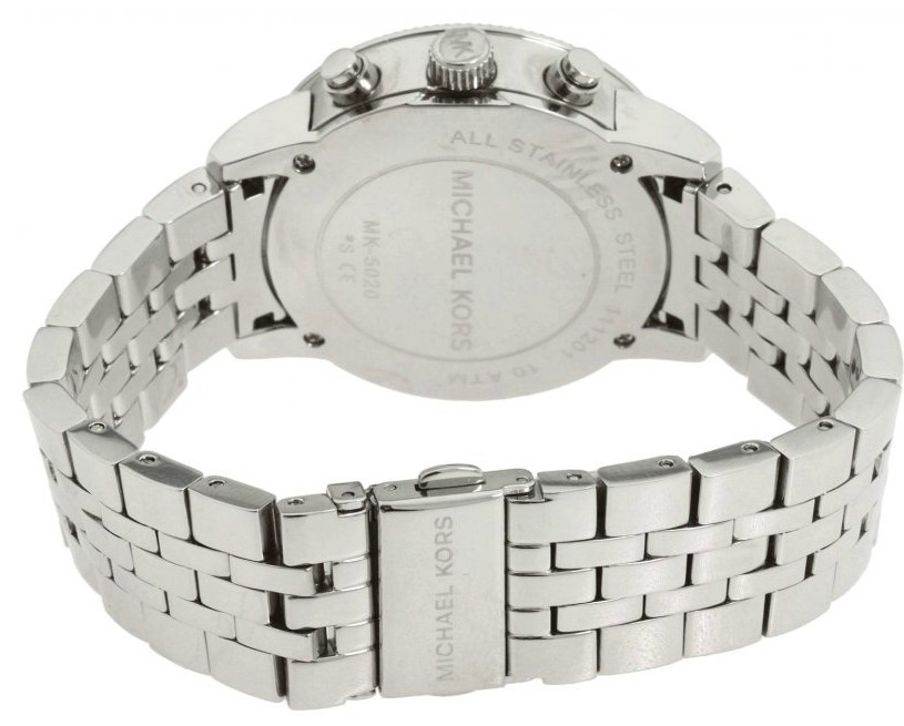 70d857132681 Michael Kors Women s Chronograph Silver Mother of Pearl Dial Watch ...