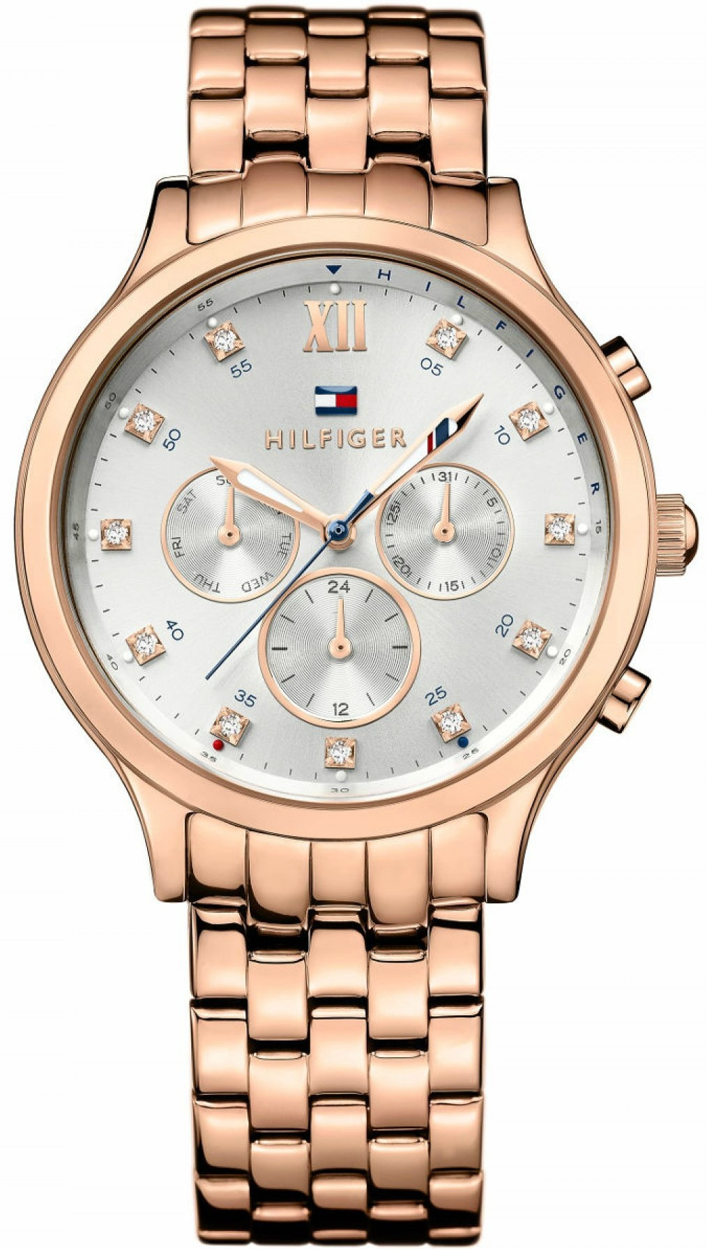 33acdbcb Tommy Hilfiger Women's Amelia Silver Dial Rose Gold Tone Watch 1781611