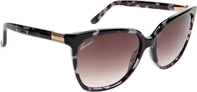 a1c8b21bc2c Gucci Women s Cat Eye Full Rim Blue Havana Sunglasses GG 3502 S WQW K8