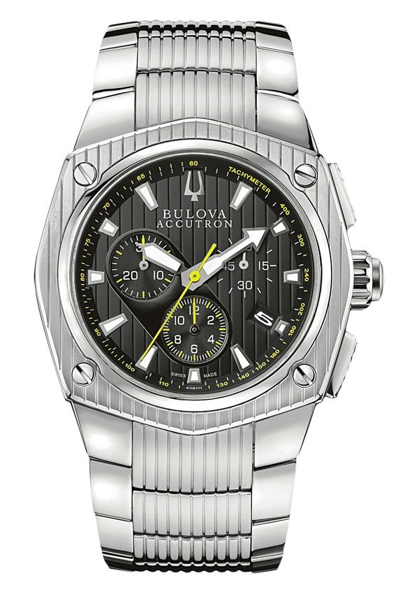 Men's Accutron 63B111 Stainless Steel Corvara Watch