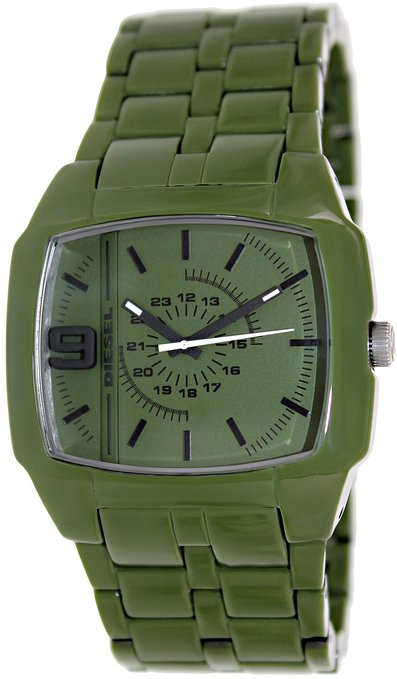 Diesel Men's Green Dial Green Acetate Watch DZ1550