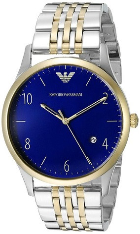 Emporio Armani AR1868 Classic Navy Dial Two-tone Men's Watch