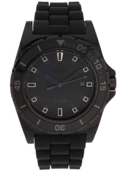 Adidas Men's Stockholm Black Rubber Watch ADH2669