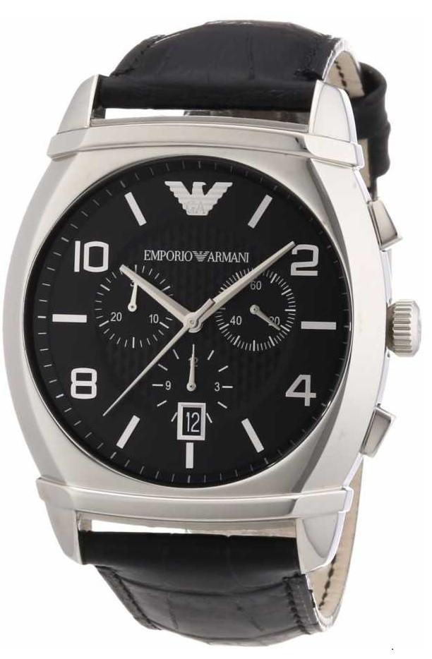 Emporio Armani Men's Black Chronograph Watch AR0347