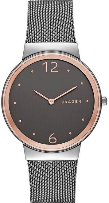 Skagen Women's Freja Smoke Grey Dial Two Tone Watch SKW2382