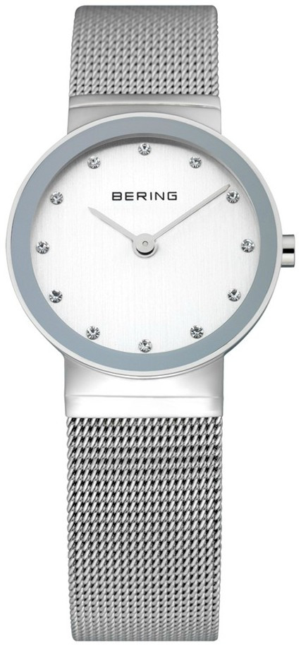 d9f9f76fee9 Bering Women s Classic White Dial Stainless Steel Mesh Watch 10126-000