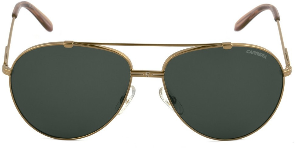 Carrera Unisex Aviator Full Rim Gold Tone Sunglasses CARRERA 67 OUN/A3