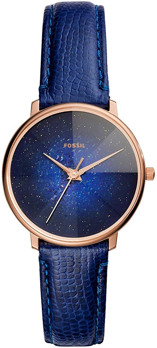 Fossil Women's Prismatic Galaxy Blue Dial Blue Leather Watch ES4729