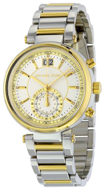 aeaa85ad5181 Michael Kors Women s Sawyer Two Tone Watch MK6225