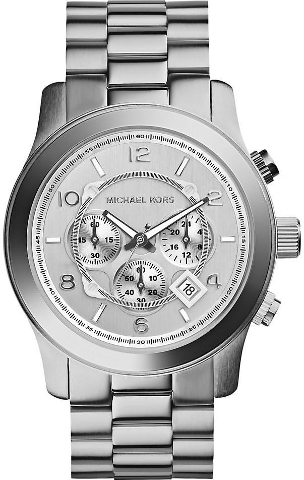 6f4348de2176 Michael Kors Men s Runway Chronograph Silver Dial Watch MK8086