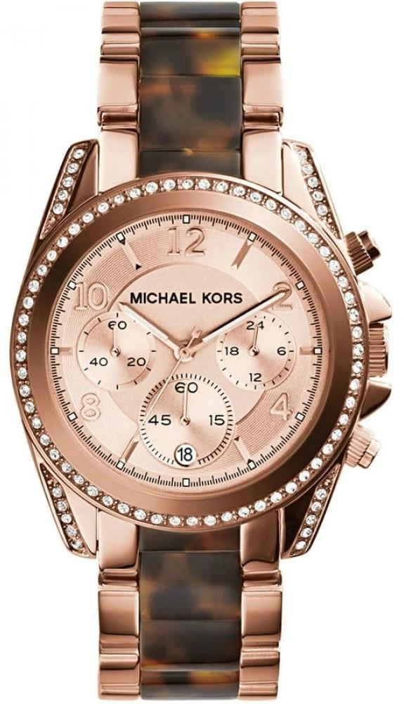 b9483640a Michael Kors Women's Blair Rose Gold-Tone and Tortoise-Shell Acetate Watch  MK5859