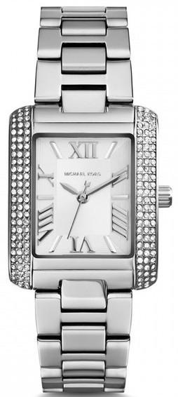 8638697490158 Michael Kors Women's Emery Silver Dial Stainless Steel Watch MK3289