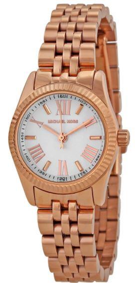 ef0e3d289d9a Michael Kors Women s Petite Lexington Rose Gold Tone Watch MK3230