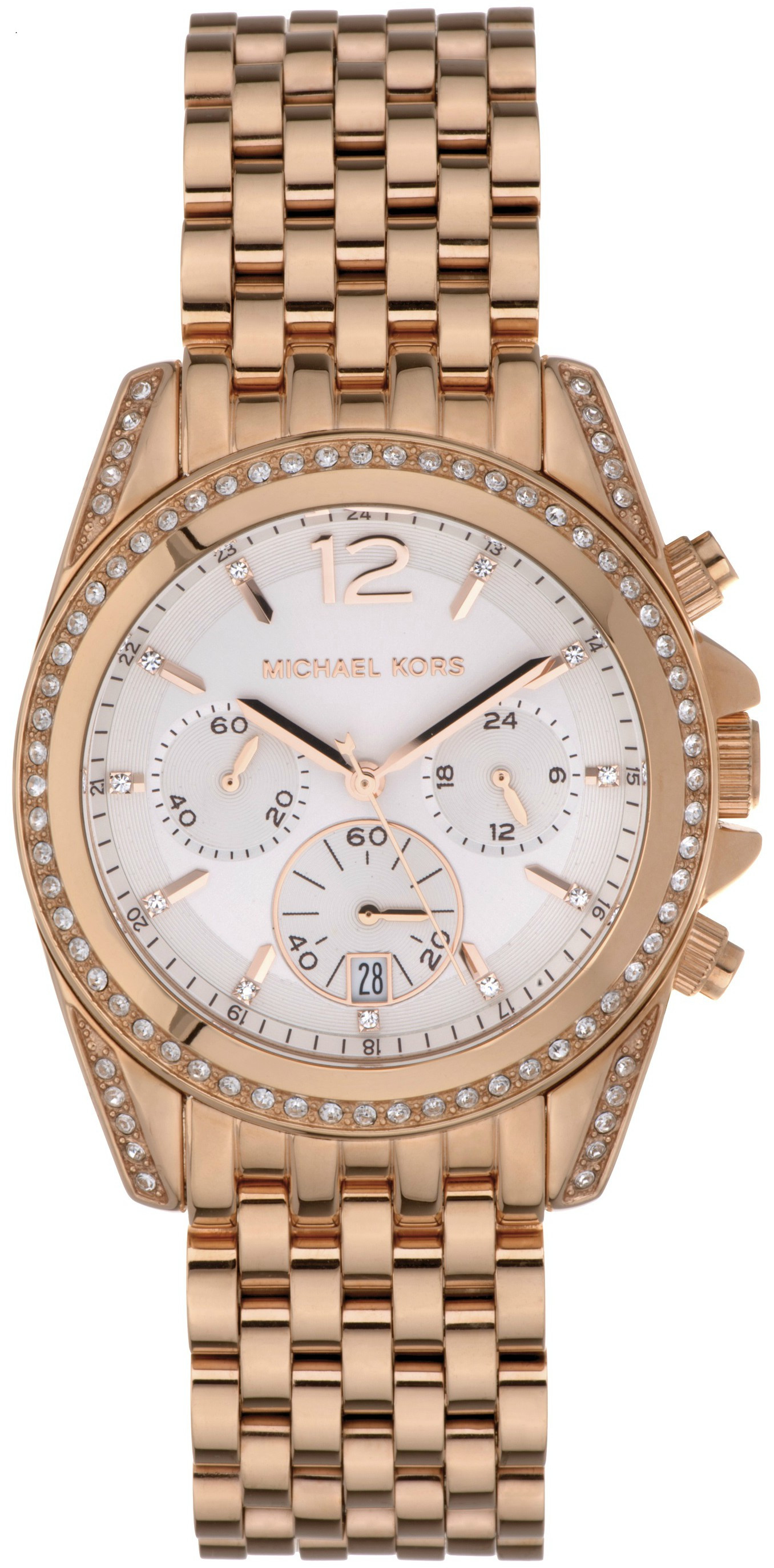 20551df79b06 Michael Kors Women s Pressley Chronograph Rose Gold Tone Watch MK5836