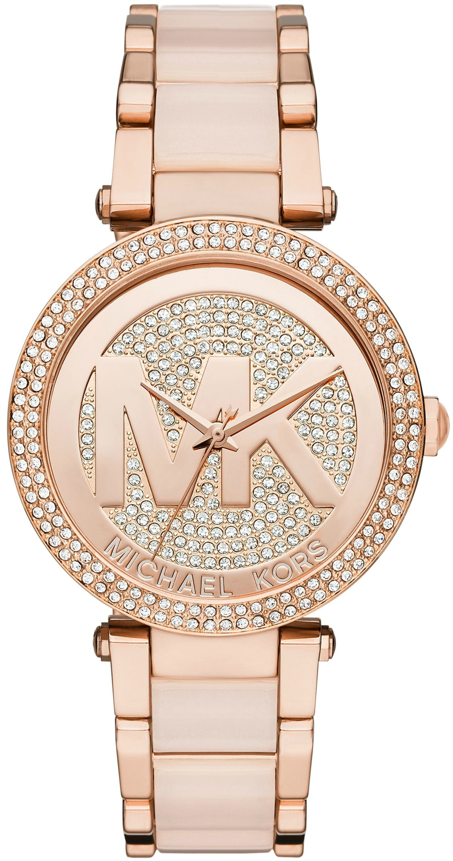 56a0e8ddfb5c Michael Kors Women s Parker Two-Tone Watch MK6176