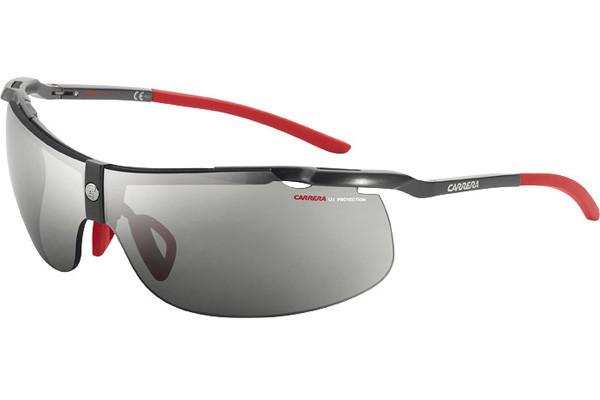 Carrera Unisex Wraparound Half-Rim Grey Sunglasses C-ALU3 0FI/ZI
