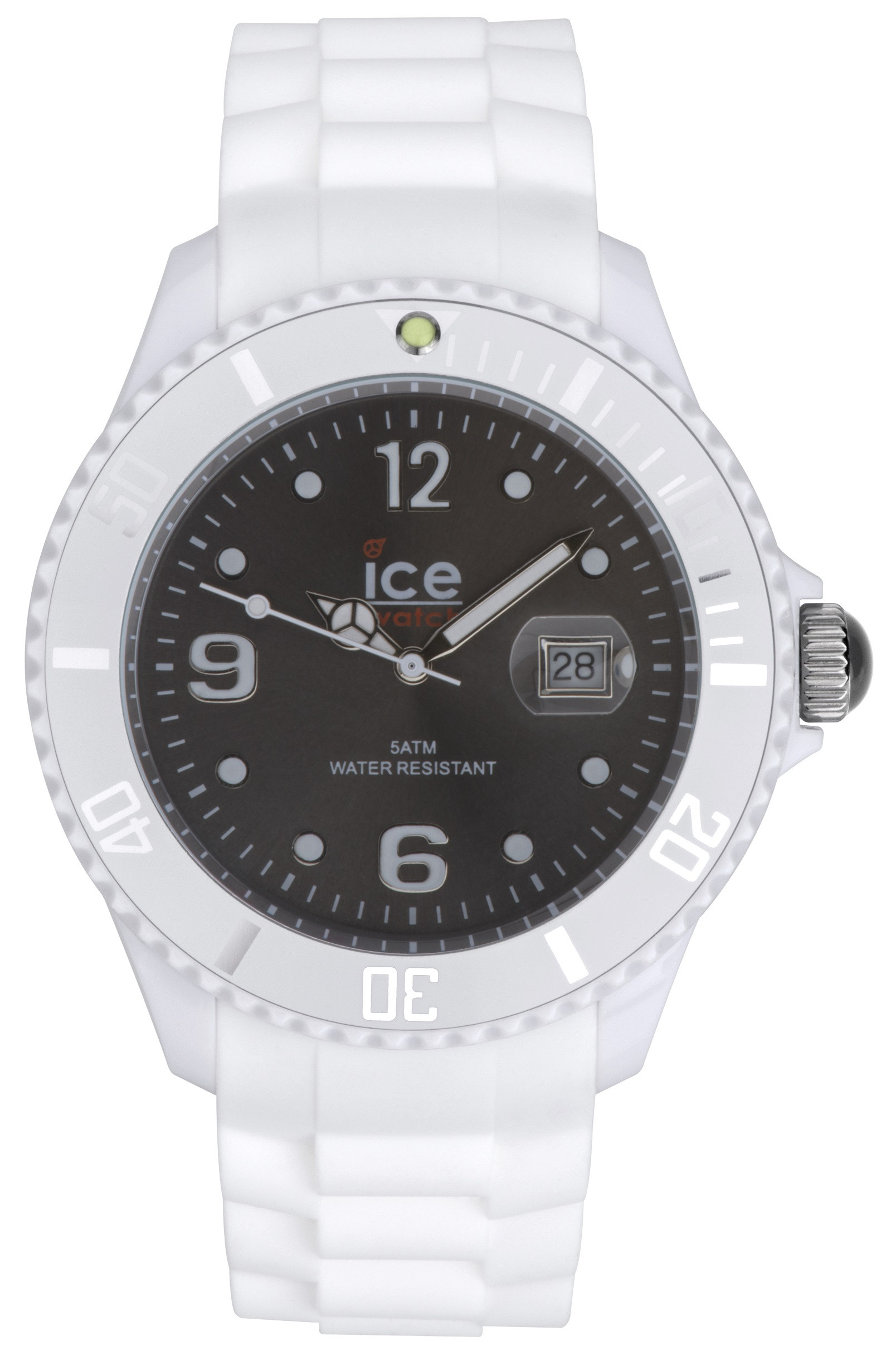 solid look that available en shop monochromatic watches and a black plastic the unadorned whilst white no watch wristband gives appearance an transparent in case tid lightweight zoom silicone durable maintaining