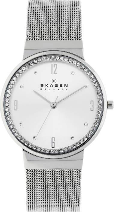9437aeecd173 Skagen Women s Ancher White Dial Stainless Steel Mesh Watch SKW2152