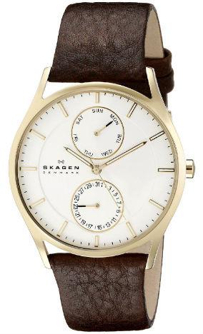 Skagen Men's Holst Leather Quartz Watch