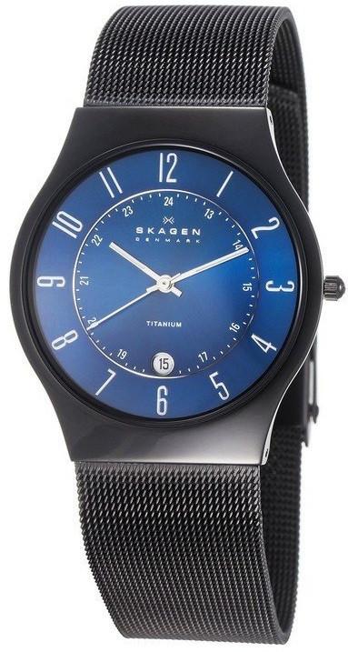 Skagen Men's Blue Dial Titanium Watch T233XLTMN