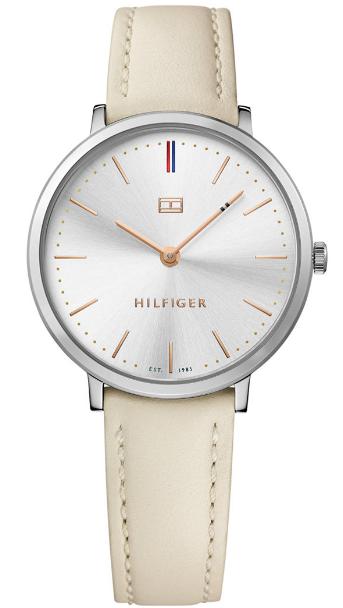 Tommy Hilfiger Women's Ultra Slim Cream Leather Watch 1781691