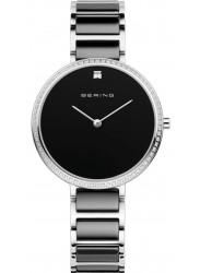 Bering Women's Black Dial Two-Tone Ceramic Watch 30534‐742