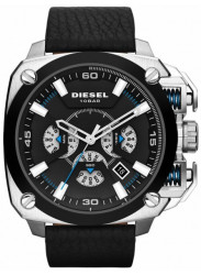 Diesel Men's BAMF Chronograph Black Leather Watch DZ7345