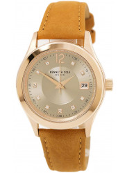 Kenneth Cole Women's Silver Dial Light Brown Leather Watch 10030801