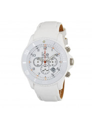 Ice-Watch CH.WE.B.L Men's Chrono White Calf Skin Quartz Watch with White Dial