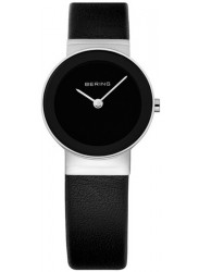 Bering Women's Classic Black Dial Black Leather Watch 10126-367