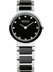 Bering Women's Black Dial Two Tone Ceramic Watch 10725-742
