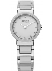 Bering Women's White Dial Two Tone Ceramic Watch 10725-754