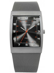 Bering Men's Classic Black Dial Stainless Steel Mesh Watch 11233-077