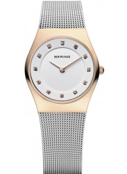 Bering Women's White Dial Stainless Steel Mesh Watch 11927-064