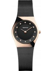 Bering Women's Black Dial Stainless Steel Mesh Watch 11927‐166