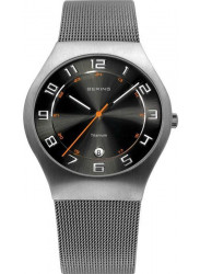 Bering Men's Classic Back Sunray Dial Stainless Steel Mesh Watch 11937-007