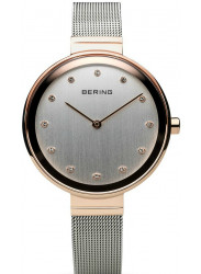 Bering Women's Silver Dial Rose Gold tone Stainless Steel Watch 12034-064