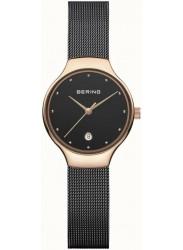 Bering Women's Black Dial Stainless steel Mesh Watch 13326‐262