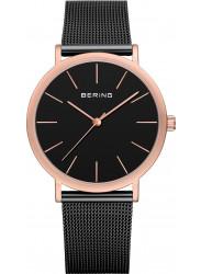 Bering Unisex Black Dial Stainless steel Mesh Watch 13436‐166