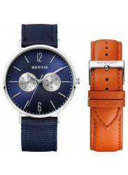 Bering Unisex Blue Dial Interchangeable Bracelet Watch 14240-507