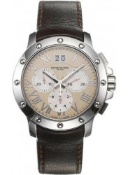Raymond Weil Men's Tango Ivrory Dial Brown Leather Watch 4899-STC-00809