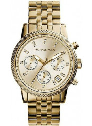 Michael Kors Women's Ritz Chronograph Gold Tone Watch MK5676