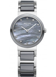 Bering Women's Grey Mother Of Pearl Dial Two Tone Ceramic Watch 10725-789
