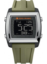 Hugo Boss Orange Men's Black Digital Dial Green Rubber Watch 1512612