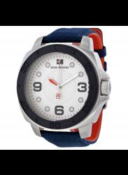 Hugo Boss Orange Silver Dial Blue Canvas Strap Watch HUG1512667