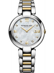 Raymond Weil Women's Shine Mother of Pearl Dial Two-Tone Watch 1600-STP-00995