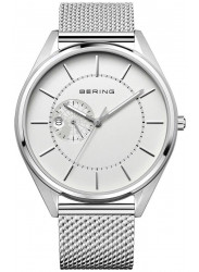 Bering Men's Automatic White Dial Stainless Steel Mesh Watch 16243‐000