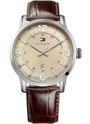 Tommy Hilfiger Men's George Champagne Dial Brown Leather Watch 1710343
